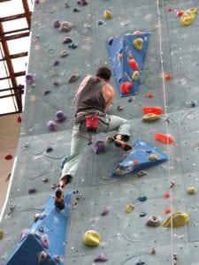 Climber wearing Climbing shoes
