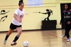 Playing Indoor Football