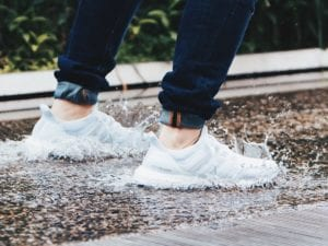 Stop water shoes from smelling