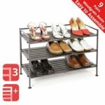 Seville Classics 3-Tier Stackable Shoe Rack